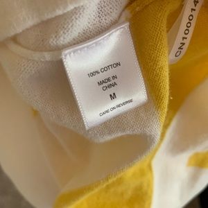 New York & Company Tops - Yellow Striped Shirt